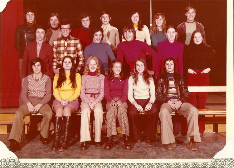 photo de classe college anselme mathieu de 1974  coll u00e8ge