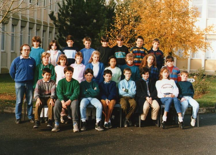 photo de classe 233 e 1987 88 6 232 me pens 233 es de 1987 coll 232 ge porte d anjou copains d avant