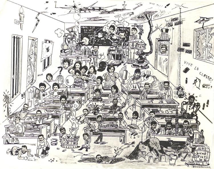 Photo de classe dessin partir de la photo de classe de - Dessin classe ...
