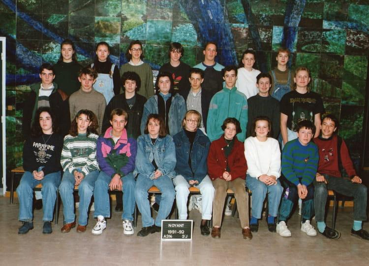 photo de classe 233 e 1991 92 3eme jonquilles de 1991 coll 232 ge porte d anjou copains d avant