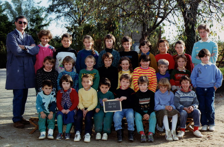 photo de classe cm de 1989 primaire copains d 39 avant. Black Bedroom Furniture Sets. Home Design Ideas
