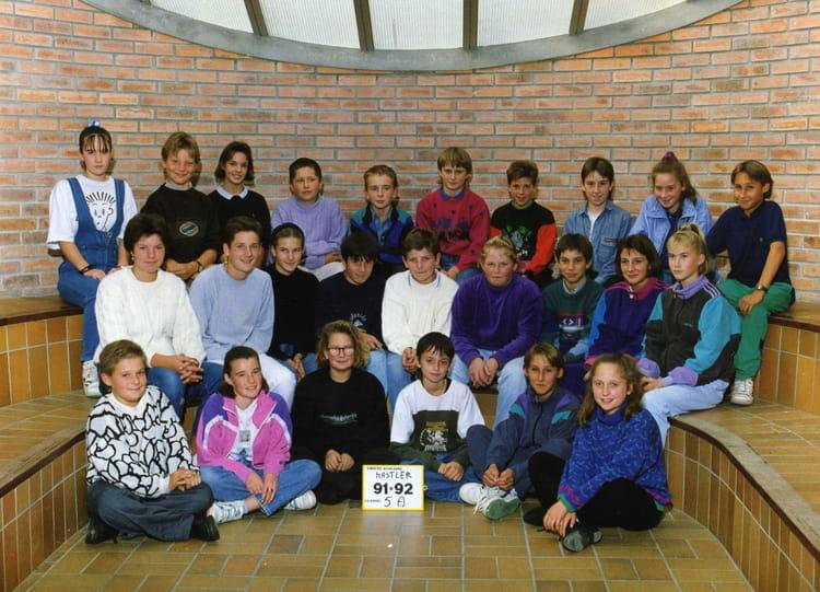 Photo de classe 5eme A de 1992, COLLEGE ALFRED KASTLER   Copains d u0026#39;avant