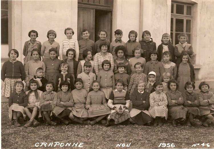 Photo de classe ce2 de 1956 ecole du centre craponne for Lycee craponne salon