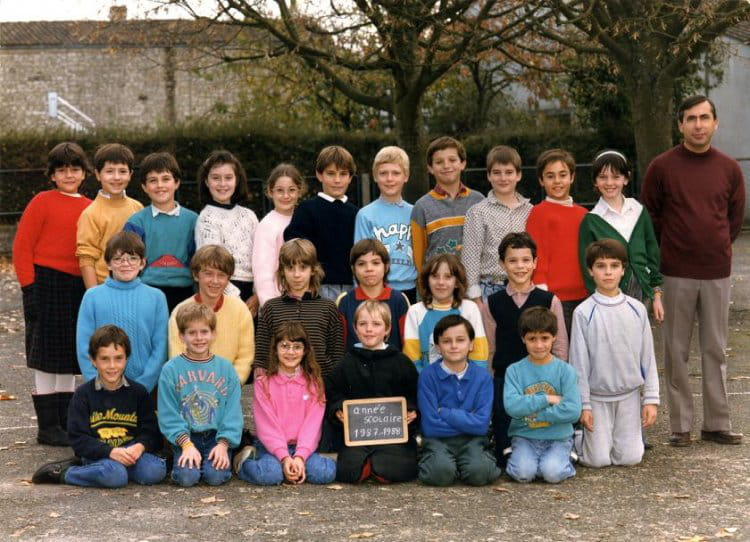 photo de classe cm1 de 1987 ecole joseph lair saint jean d angely copains d 39 avant. Black Bedroom Furniture Sets. Home Design Ideas