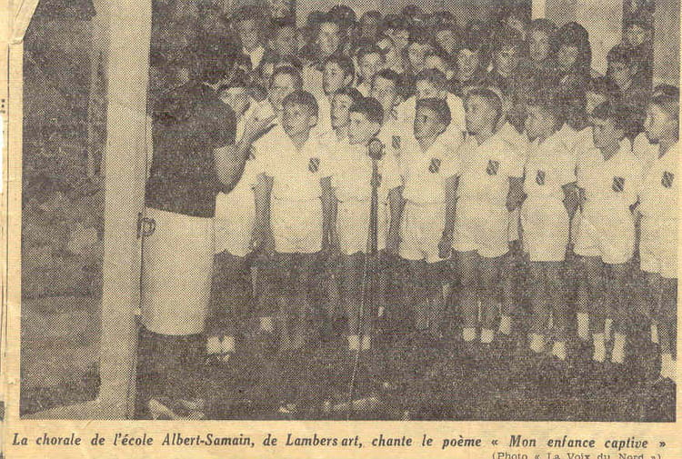 Photo de classe chorale a samain 1961 de 1961 ecole for Albert samain la cuisine