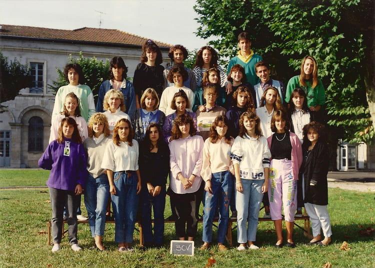 photo de classe 3 cv de 1989  lyc u00e9e professionnel paul bert