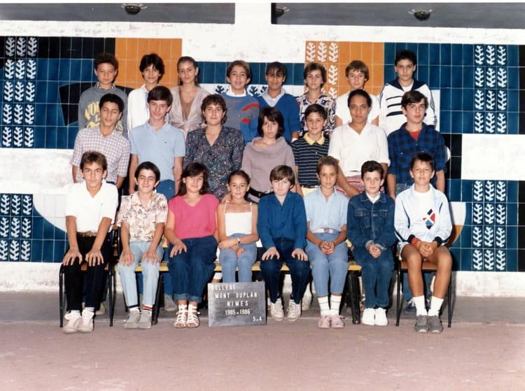 photo de classe 5eme 4 de 1985 coll 232 ge mont duplan