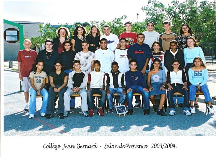 Photo de classe 3 me de 2003 coll ge jean bernard copains d 39 avant - Bernard philibert salon de provence ...