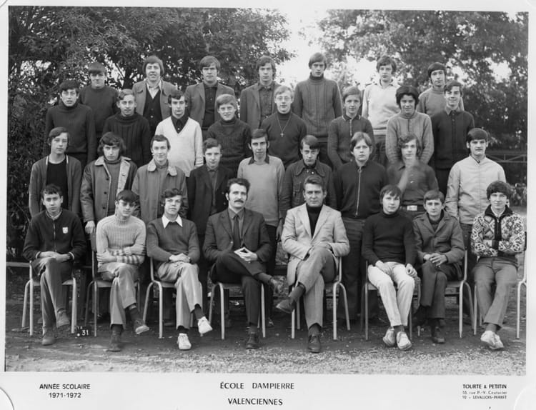 photo de classe 2 cap meca de 1971 lycee dierre copains d avant