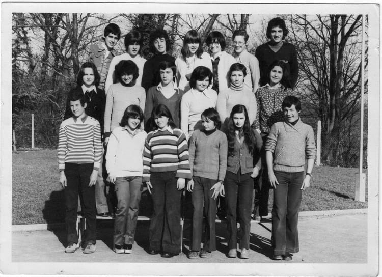 photo de classe 4 5 de 1974 college le bois d 39 amour copains d 39 avant. Black Bedroom Furniture Sets. Home Design Ideas
