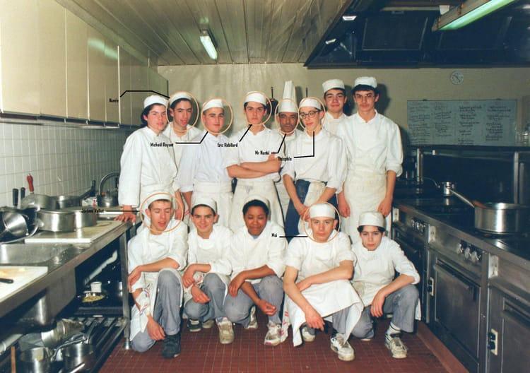photo de classe cap cuisine de 1993, cfa les chaises - copains d'avant