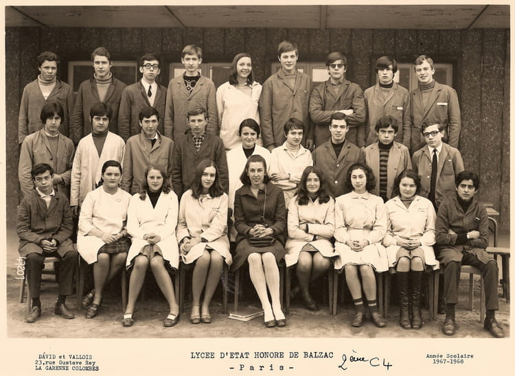 1967 - Lycée Honoré de Balzac - PARIS - 1967/1968 - Honoré de