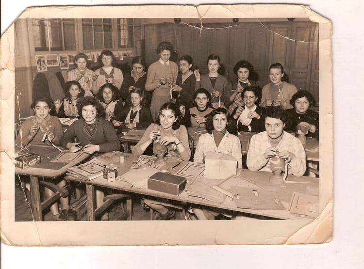 photo de classe derniere classe de 1954 ecole de belleville copains d 39 avant. Black Bedroom Furniture Sets. Home Design Ideas