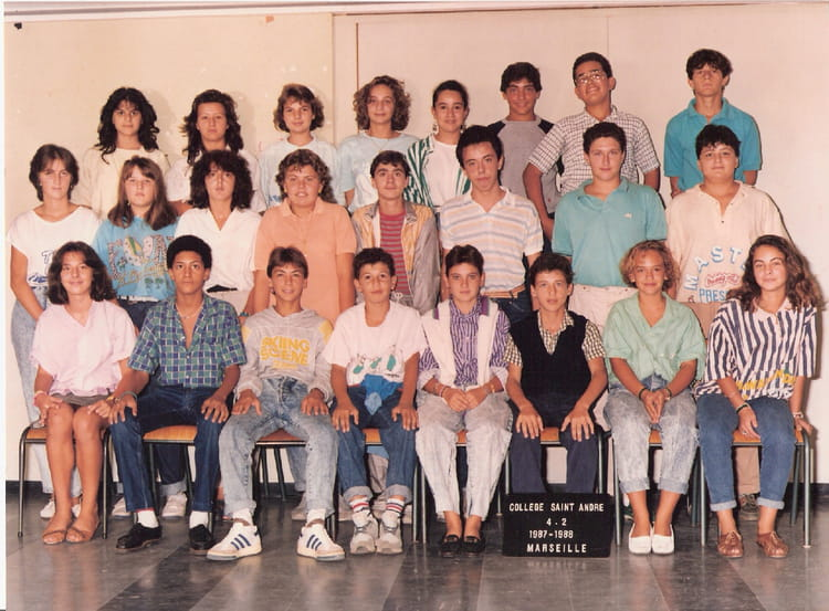 photo de classe de 1987 college henri barnier copains d 39 avant. Black Bedroom Furniture Sets. Home Design Ideas