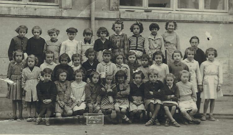 photo de classe primaire de 1954 ecole lucette salle nevers copains d avant