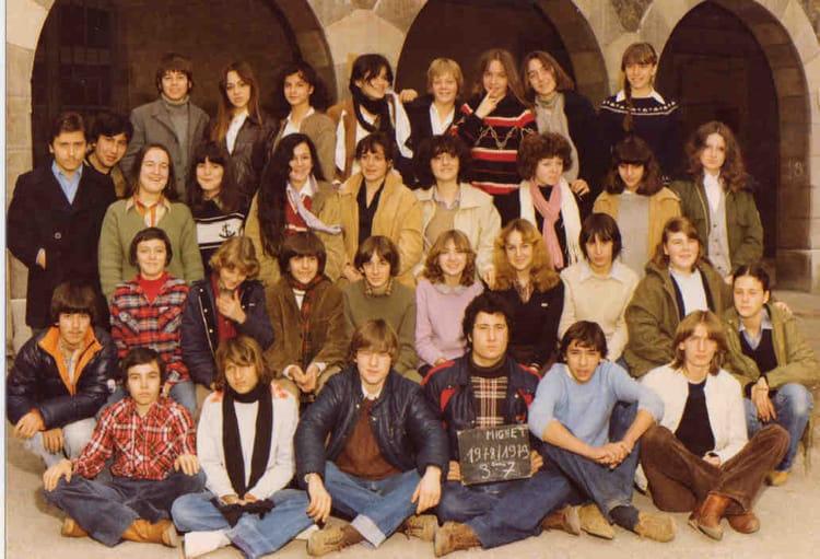 photo de classe 3 u00e8me 7 de 1979  coll u00e8ge mignet