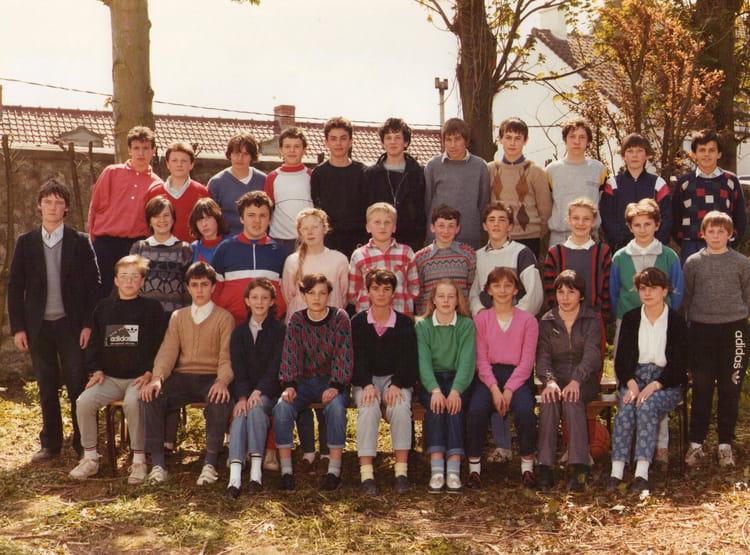 photo de classe 4eme b college st martin marquise de 1985 coll 232 ge martin copains d avant