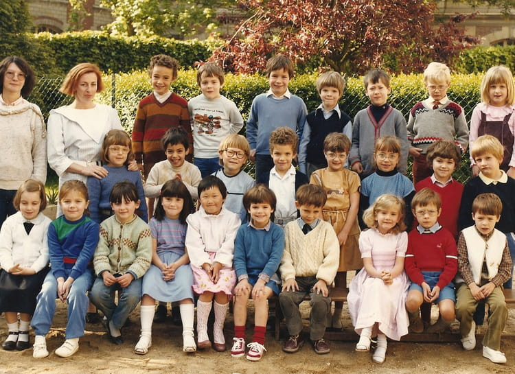 photo de classe maternelle 2 de 1984 ecole sainte genevieve meaux copains d 39 avant. Black Bedroom Furniture Sets. Home Design Ideas