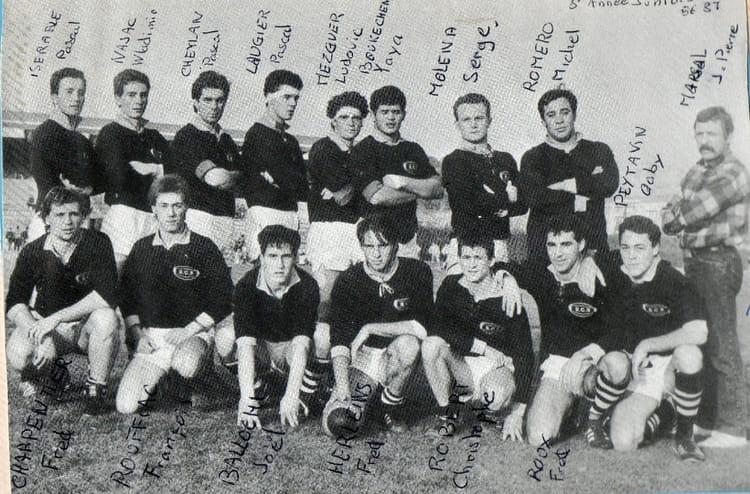 Photo de classe juniors 86 87 de 1987 sporting club for Sporting club salonais