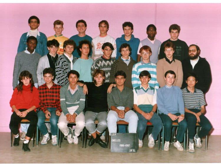 photo de classe 2 a el de 1986 lyc 233 e professionnel louis lumi 232 re copains d avant