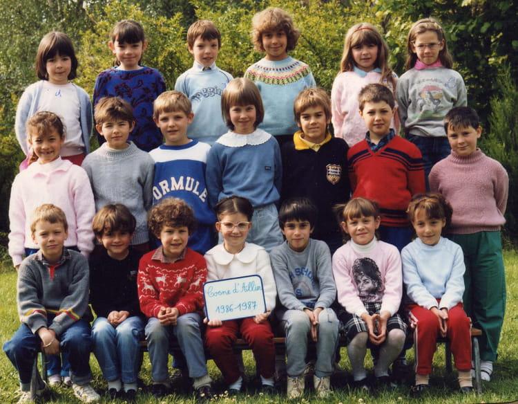Photo de classe ce1 ecole primaire cosne d 39 allier de 1986 for Garage cosne d allier