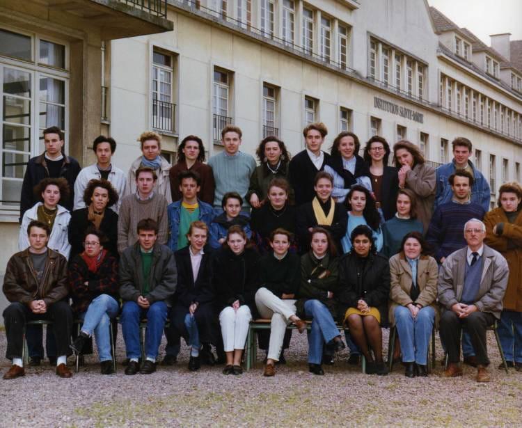 photo de classe lyc 233 e ste caen terminale b de 1991 lyc 233 e sainte copains d avant