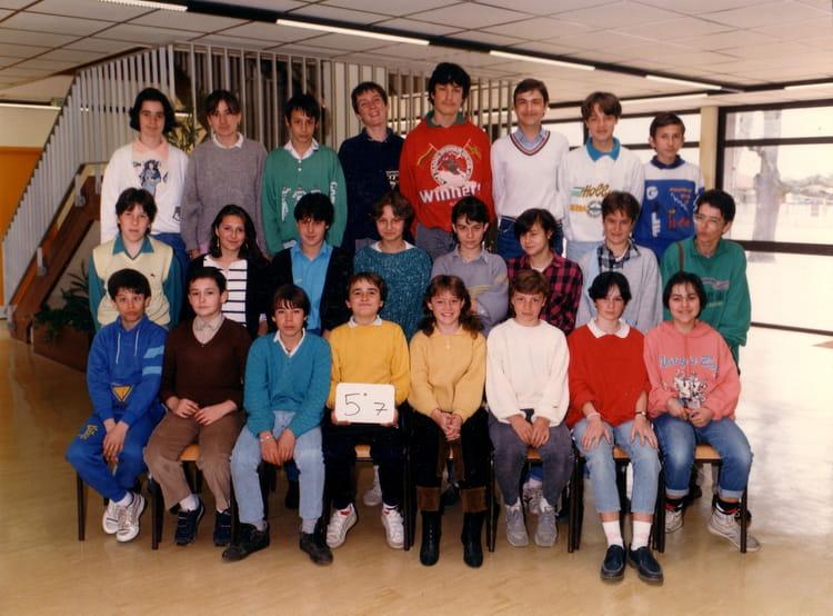 photo de classe 5 233 me 7 de 1987 coll 232 ge porte du m 233 doc copains d avant