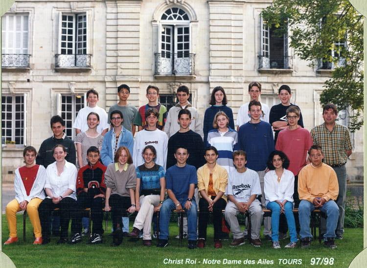Photo de classe 3e 1997-1998 de 1997, Collège Christ-roi Notre-dame ...