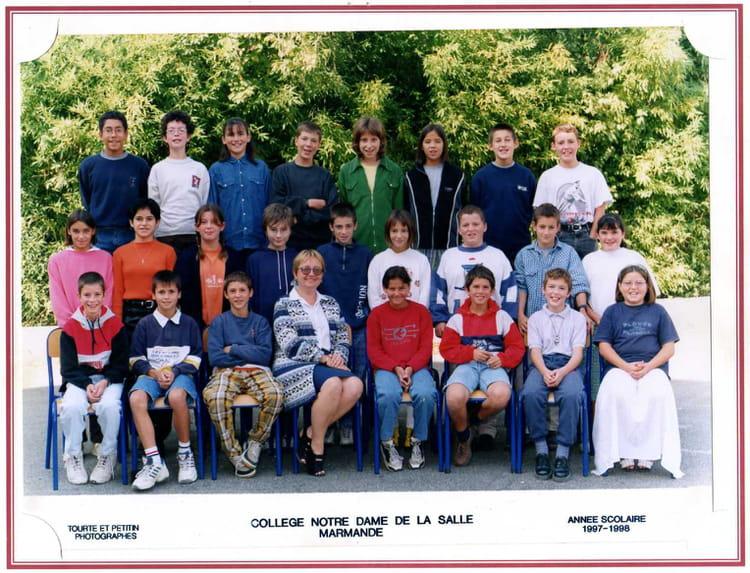 photo de classe 6 232 me de 1997 coll 232 ge notre dame de la salle copains d avant