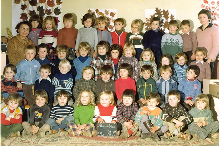 photo de classe maternelle 1978 79 de 1979 ecole saint martin saint mars du desert copains. Black Bedroom Furniture Sets. Home Design Ideas