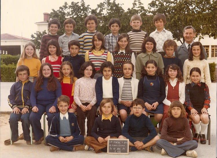 Photo de classe cm2 de 1974 ecole leonce gluard la roche - Cours cuisine la roche sur yon ...
