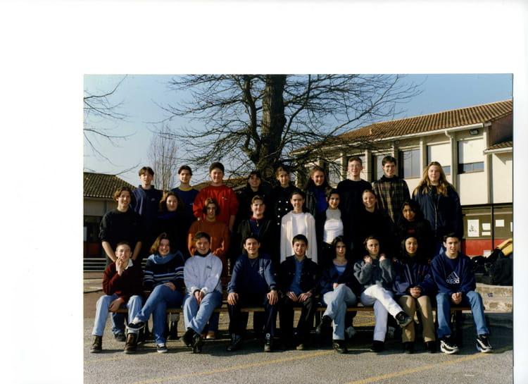 photo de classe 3eme1 de 1997 coll 232 ge porte du m 233 doc copains d avant