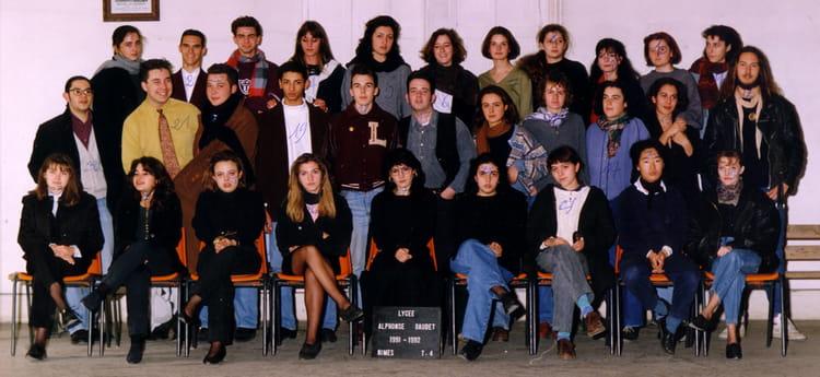 Photo de classe t 4 de 1991 lyc e alphonse daudet for Lycee alphonse daudet