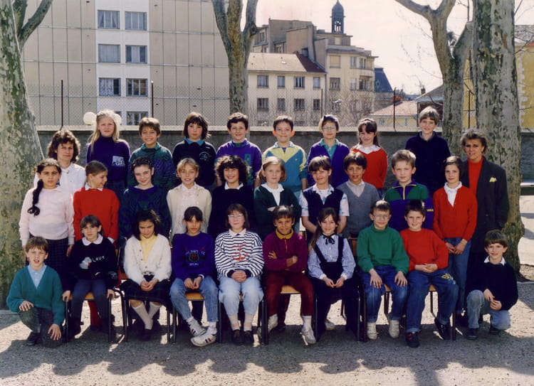 photo de classe cm1 de 1989 ecole primaire catholique les remparts villefranche sur saone. Black Bedroom Furniture Sets. Home Design Ideas