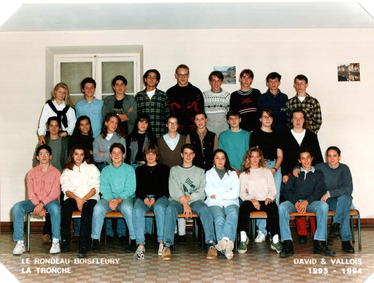 Photo de classe Lycee Itec Boisfleury seconde 94 de 1994  ~ Itec Bois Fleury