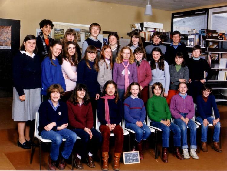photo de classe classe de 4 me b de 1980 coll ge fran ois villon copains d 39 avant. Black Bedroom Furniture Sets. Home Design Ideas