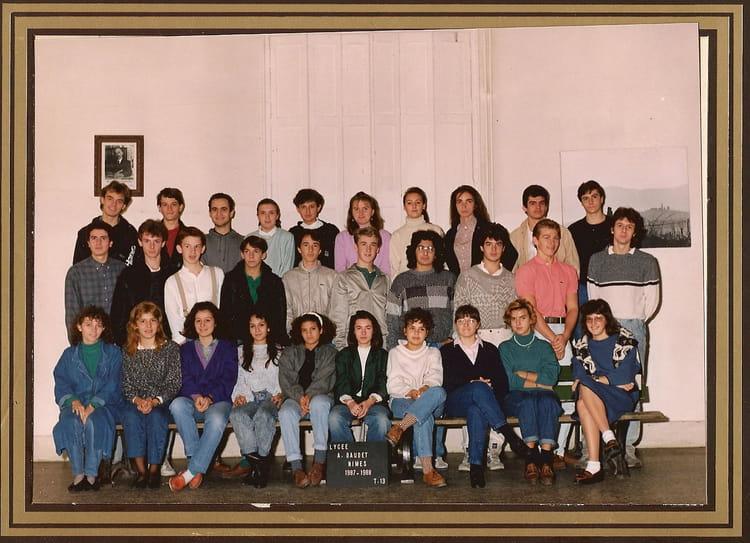 Photo de classe td 13 de 1987 lyc e alphonse daudet for Lycee alphonse daudet