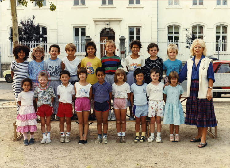 photo de classe cp de 1987 ecole jean monnet villefranche sur saone copains d 39 avant. Black Bedroom Furniture Sets. Home Design Ideas