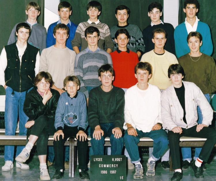 Photo de classe 1ere e de 1986 lyc e henri vogt copains - Lycee henri wallon valenciennes portes ouvertes ...
