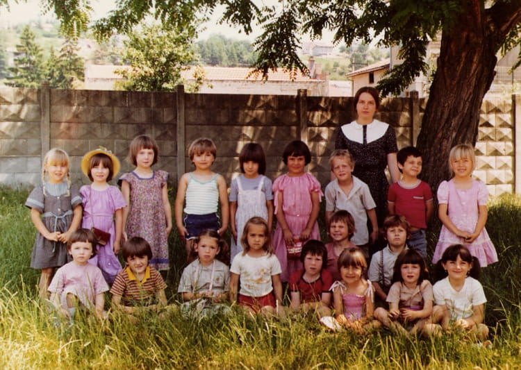 photo de classe grande section de 1980 ecole jayol saint just sur loire saint just saint. Black Bedroom Furniture Sets. Home Design Ideas