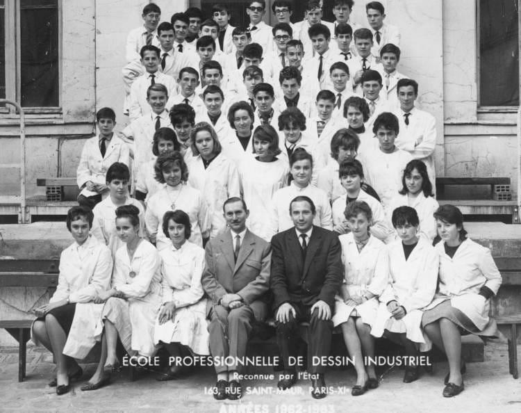 Photo de classe epdi pu 1 de 1963 e p d i ecole professionnelle de dessin industriel copains - Dessin de classe d ecole ...