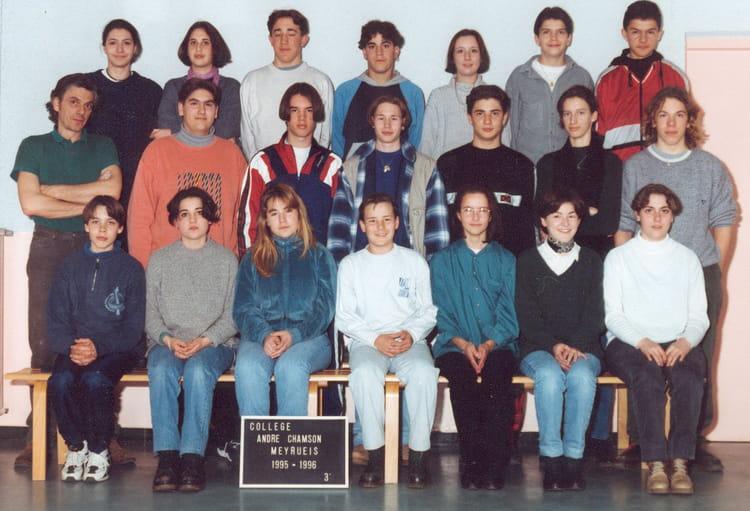 photo de classe classe de 3eme 1995 1996 de 1995 coll ge andr chamson copains d 39 avant. Black Bedroom Furniture Sets. Home Design Ideas