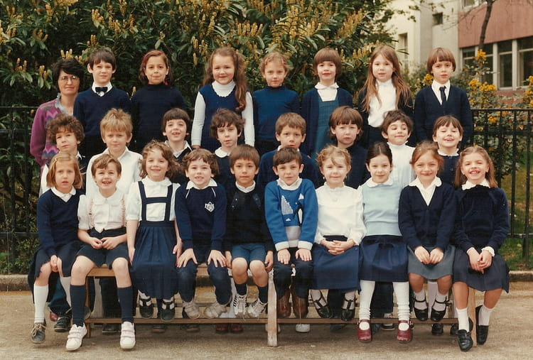 photo de classe 11 me bleue de 1983 ecole sainte genevieve copains d 39 avant. Black Bedroom Furniture Sets. Home Design Ideas