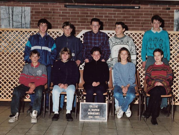 Photo de classe CPA de 1995, Collège Jean-claude Dauphin