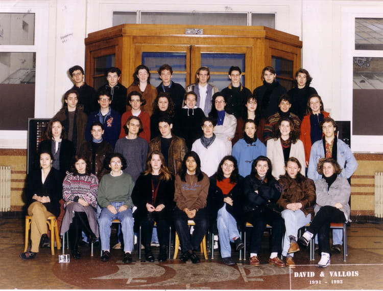 photo de classe lyc 233 e paul bert 1991 92 1 232 re b de 1991 lyc 233 e paul bert copains d avant