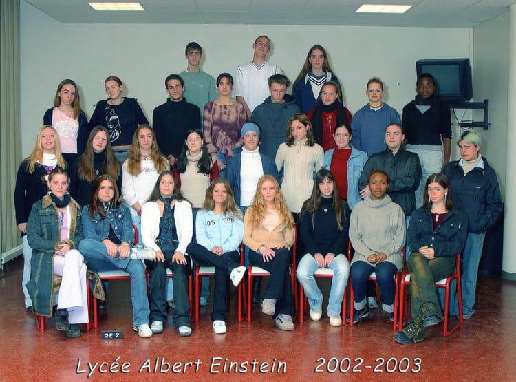 photo de classe sde 7 de 2003 lyc e albert einstein copains d 39 avant. Black Bedroom Furniture Sets. Home Design Ideas