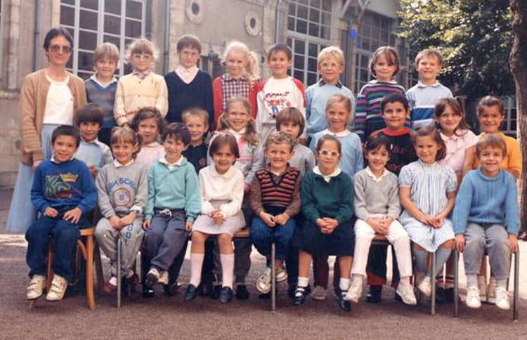 photo de classe cp de 1986 ecole lucette salle nevers copains d avant