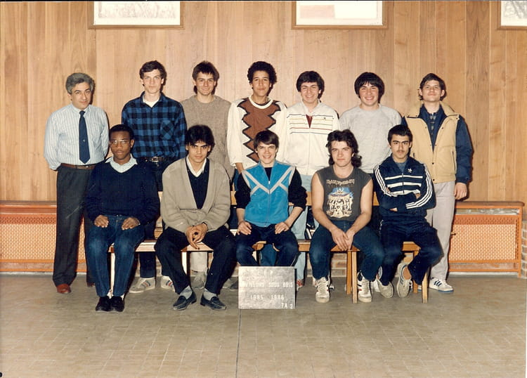 Photo de classe Classe de menuiserie au lycée claude nicolas