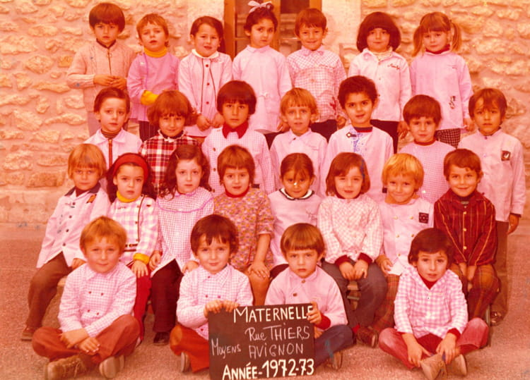 photo de classe maternelle moyenne section rue thiers avignon de 1972 ecole elem thiers. Black Bedroom Furniture Sets. Home Design Ideas