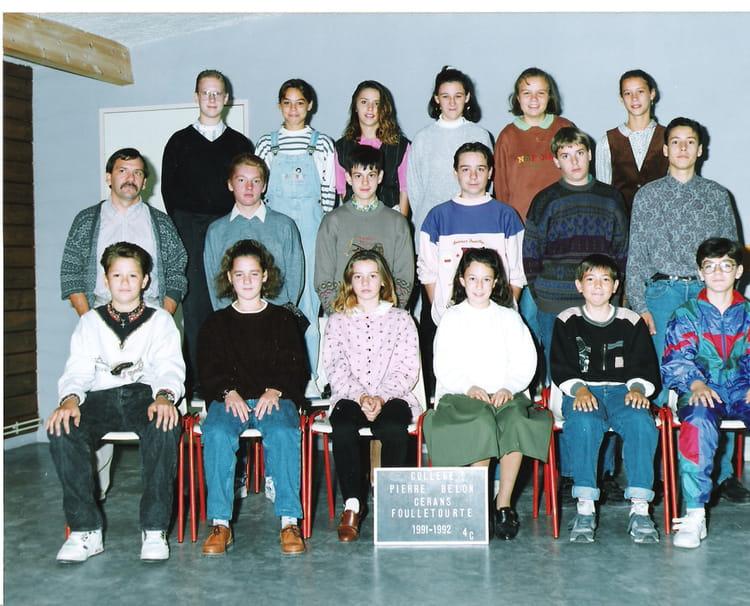 Photo de classe 3èmeC de 1991, Collège Pierre Belon